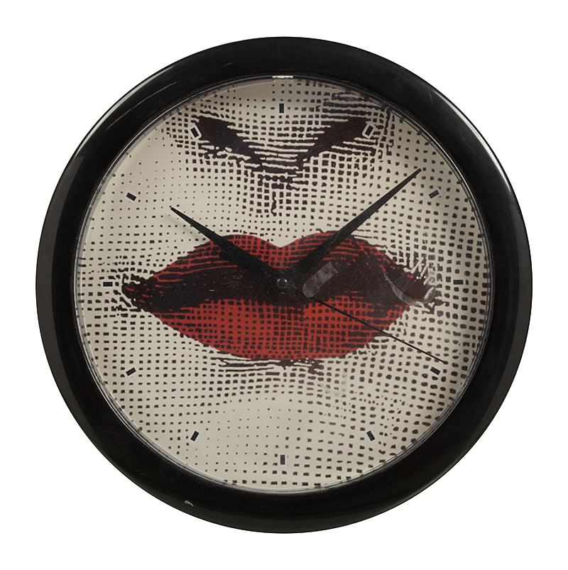 Настенные часы с портретом Лины Пьеро Форназетти • Red Lips