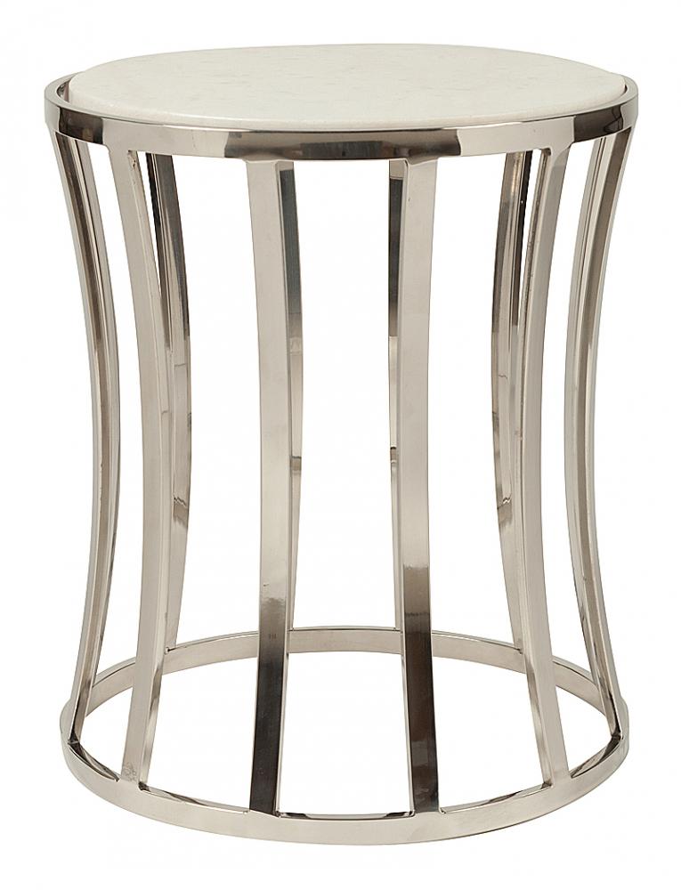 Журнальный столик Fabie DG-HOME Журнальный столик Fabie является уникальной  дизайнерской моделью. В данном случае это  не просто удобный и красивый стол, но и предмет  интерьера, который раскрывает характер  и вкусы хозяев помещения. Округлая форма  с множеством ножек на кольцевидном каркасе  из нержавеющей стали и мраморная столешница  является безупречным слиянием компонентов.