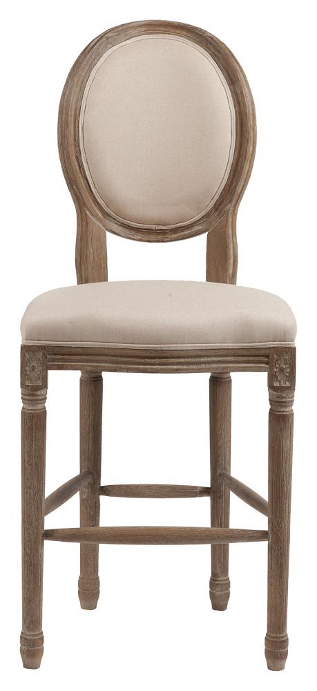 Барный стул Vintage French Round Кремовый ЛенБарные стулья<br>Cтул Vintage French Round в классическом стиле в <br>обивке из натурального бельгийского льна <br>бежевого цвета. Фигурные ножки украшены <br>резьбой, выполненной вручную. Ножки и каркас <br>изготовлены из древесины дуба с завершающей <br>белой винтажной отделкой. Этот великолепный <br>стул Vintage French Round — воплощение старинной <br>французской элегантной сдержанности, выглядят <br>гораздо дороже, чем на самом деле. Понравился? <br>Купите стул Vintage French Round в нашем интернет-магазине <br>— он займет достойное место в вашем интерьере.<br><br>Цвет: Бежевый<br>Материал: Ткань, Поролон, Дерево<br>Вес кг: 8<br>Длина см: 51<br>Ширина см: 58<br>Высота см: 112