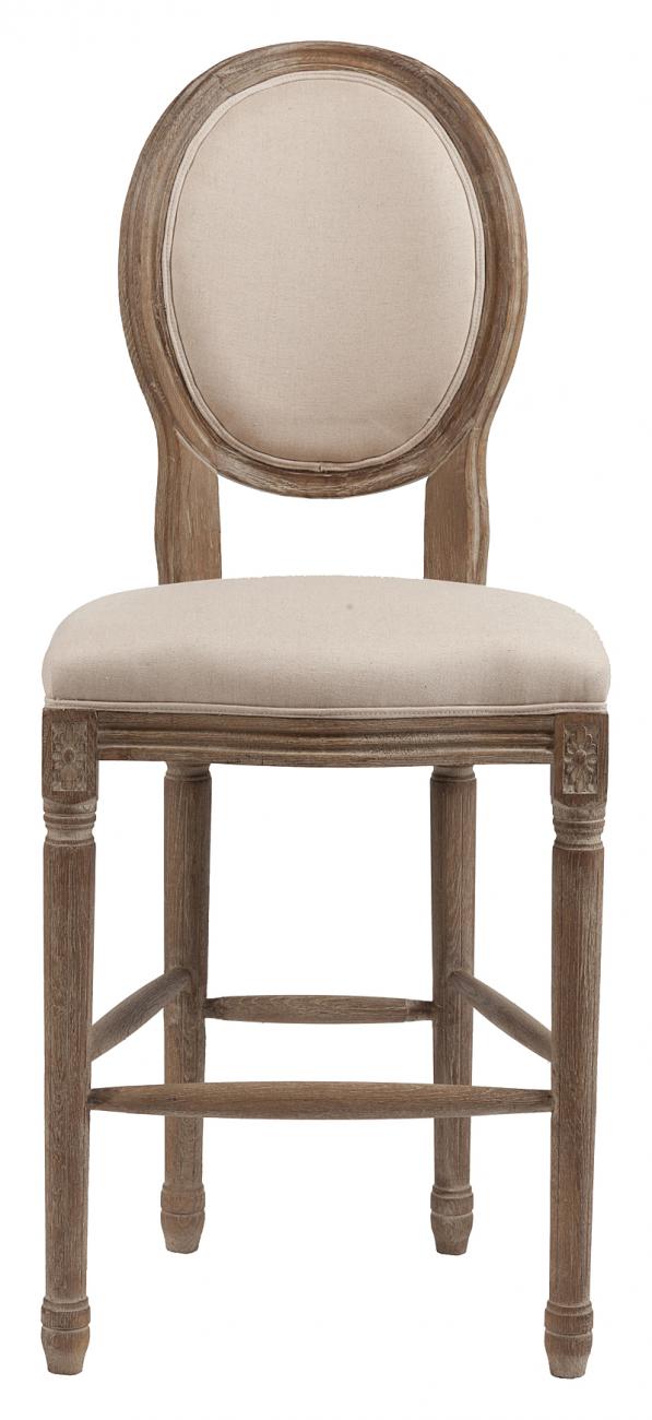 Купить Барный стул Vintage French Round Кремовый Лен в интернет магазине дизайнерской мебели и аксессуаров для дома и дачи