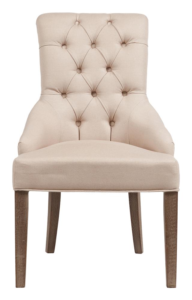 Стул Martine Armchair Кремовый ЛенСтулья<br>Эффектный и удобный стул Martine, выполненный <br>из натурального дерева и прочной велюровой <br>обивки. Стул имеет каркас и устойчивые ножки <br>из прочного дуба (передние — прямые, задние <br>— изогнутые), высокую мягкую спинку, плавно <br>переходящую в достаточно глубокое сидение. <br>Спинка украшена классической ромбовидной <br>стежкой внутри и металлическими декоративными <br>гвоздиками снаружи. Такой стул удачно впишится <br>в столовую зону домашних интерьеров, а также <br>станет удачным приобретением для шикарных <br>ресторанов, кафе, отелей и бутиков.<br><br>Цвет: Бежевый<br>Материал: Ткань, Поролон, Дерево<br>Вес кг: 8<br>Длина см: 63,5<br>Ширина см: 71<br>Высота см: 99