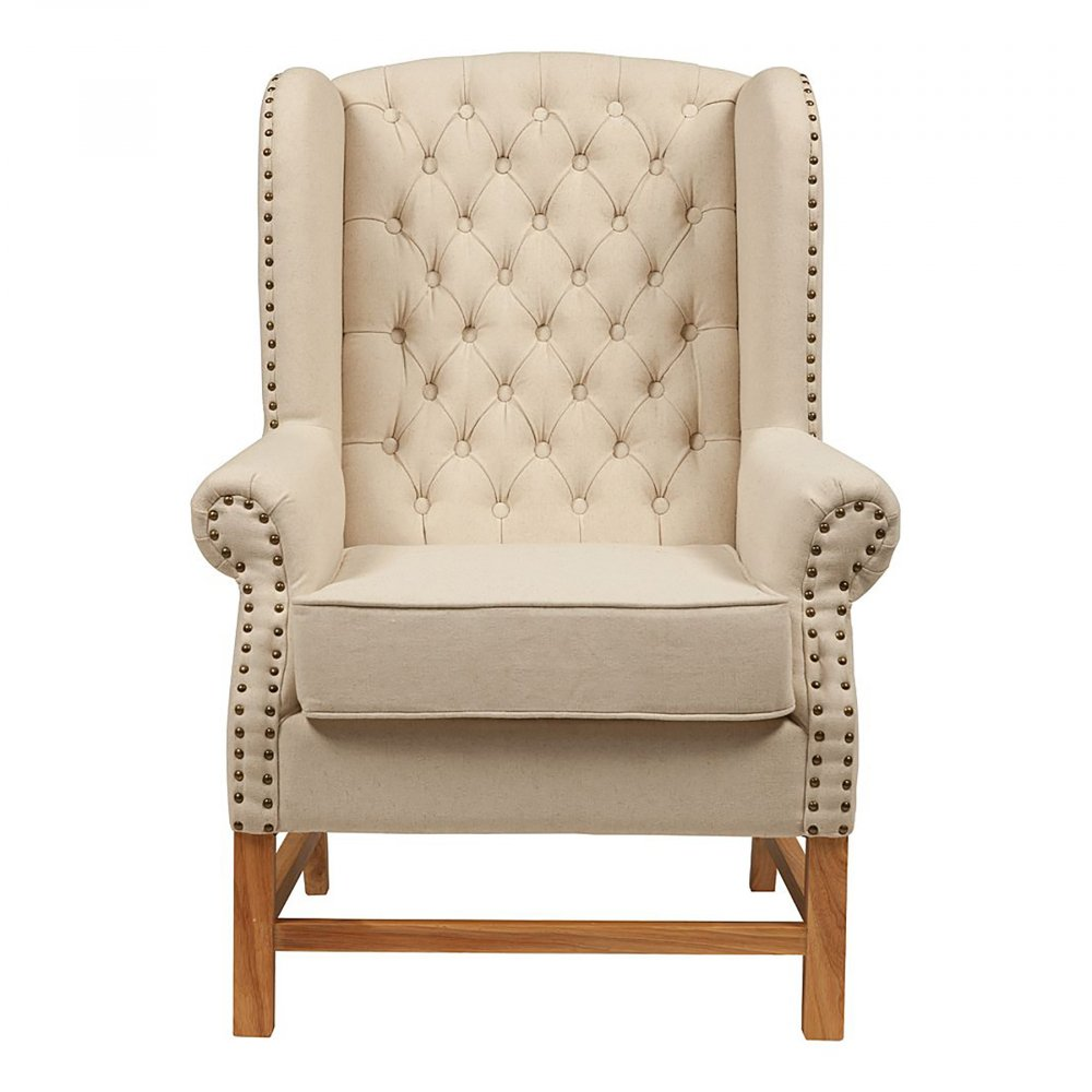 Фото Кресло French Provincial Armchair Белый Лен. Купить с доставкой