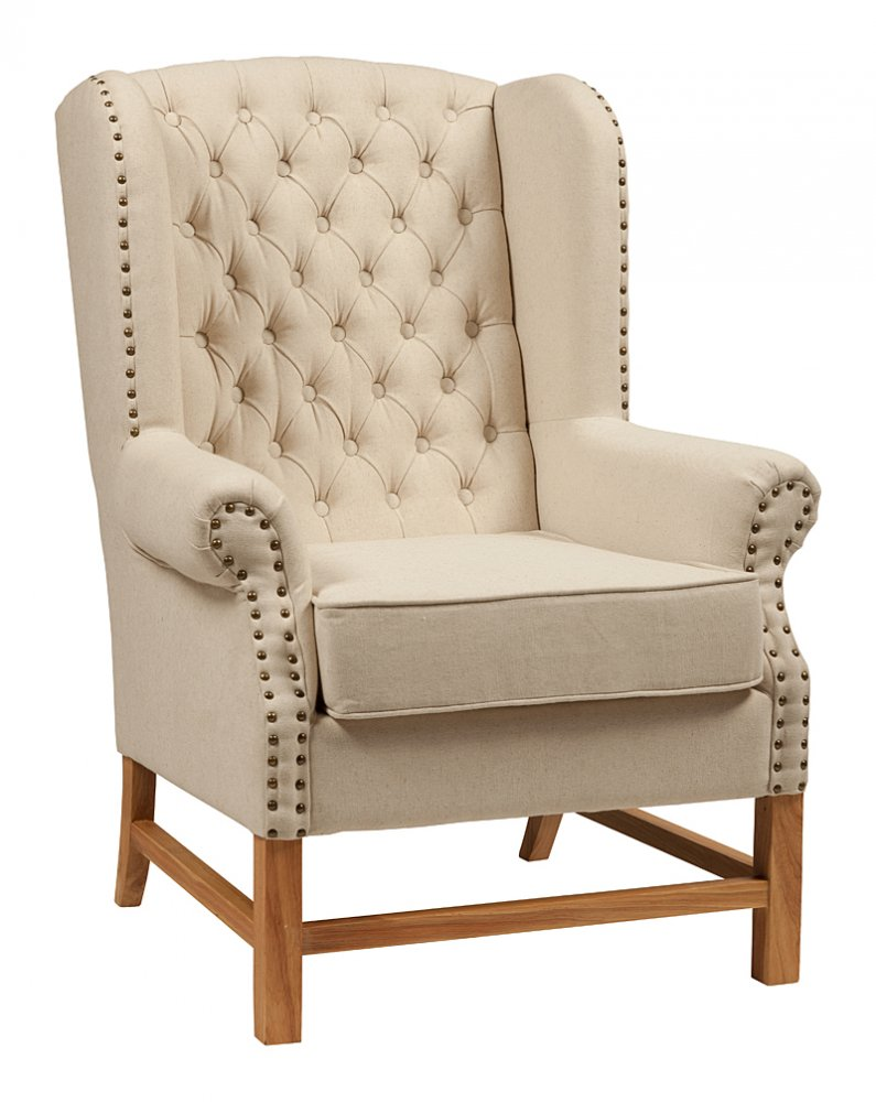 Кресло French Provincial Armchair Белый Лен