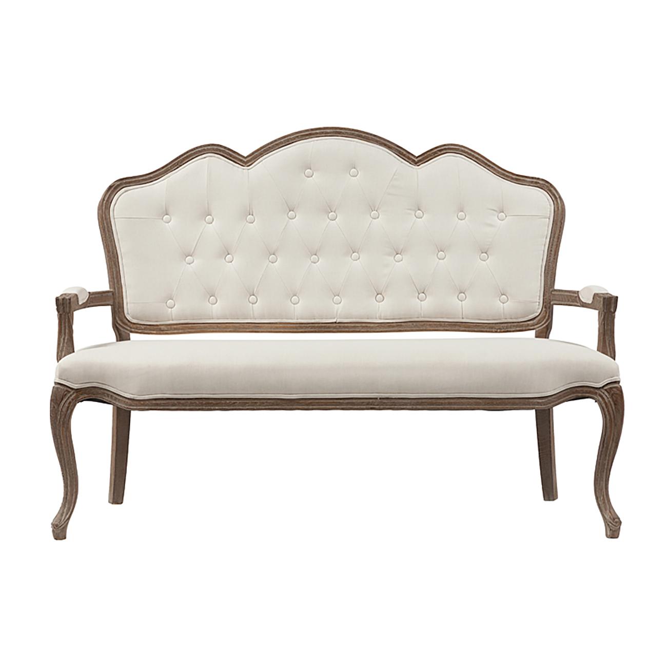 Купить Диван Juliette Sofa Белый Лен в интернет магазине дизайнерской мебели и аксессуаров для дома и дачи