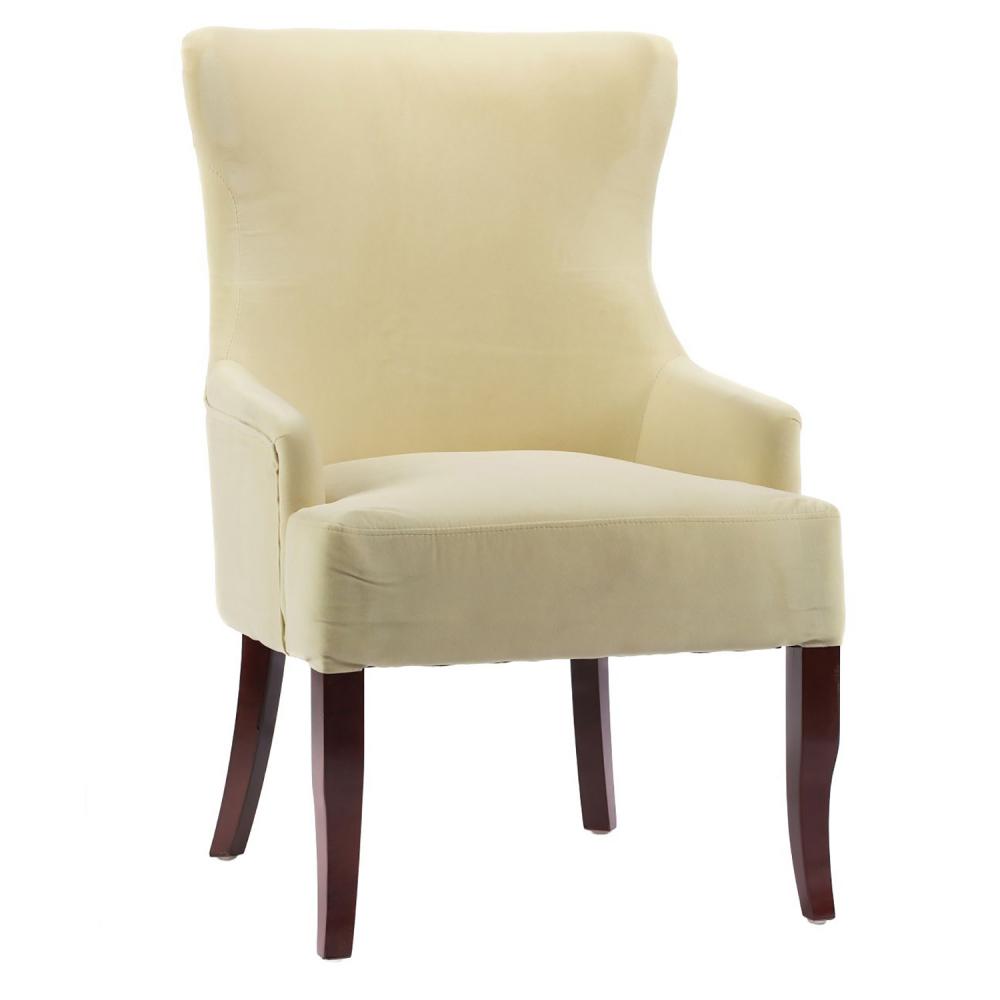 Кресло Aldo Молочный ВелюрКресла<br><br><br>Цвет: Белый<br>Материал: Велюр, Дерево<br>Вес кг: 8<br>Длина см: 65<br>Ширина см: 68<br>Высота см: 98