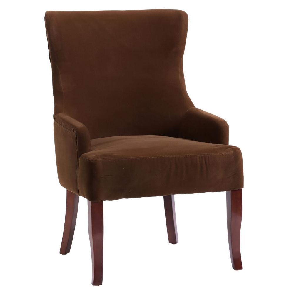 Кресло Aldo Коричневый ВелюрКресла<br>Вы искали комфортное кресло для дома, офиса, <br>ресторана? Вы нашли его! Очаровательное <br>кресло Aldo выполнено в традиционном классическом <br>стиле. Модель на скрытом каркасе с высокой <br>прямоугольной спинкой, с фигурными боковыми <br>панелями и короткими подлокотниками. Передние <br>прямые ножки и слегка изогнутые задние <br>изготовлены из массива древесины цвета <br>тёмного дуба. Обивка выполнена из шикарного <br>материала — велюра коричневого цвета.<br><br>Цвет: Коричневый<br>Материал: Велюр, Дерево<br>Вес кг: 8<br>Длина см: 65<br>Ширина см: 68<br>Высота см: 98