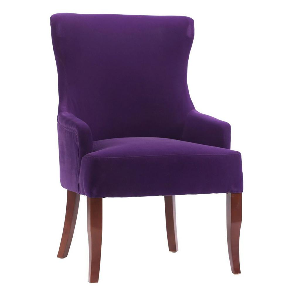 Кресло Aldo Фиолетовый ВелюрКресла<br><br><br>Цвет: фиолетовый<br>Материал: Велюр, дерево<br>Вес кг: 8<br>Длина см: 65<br>Ширина см: 68<br>Высота см: 98