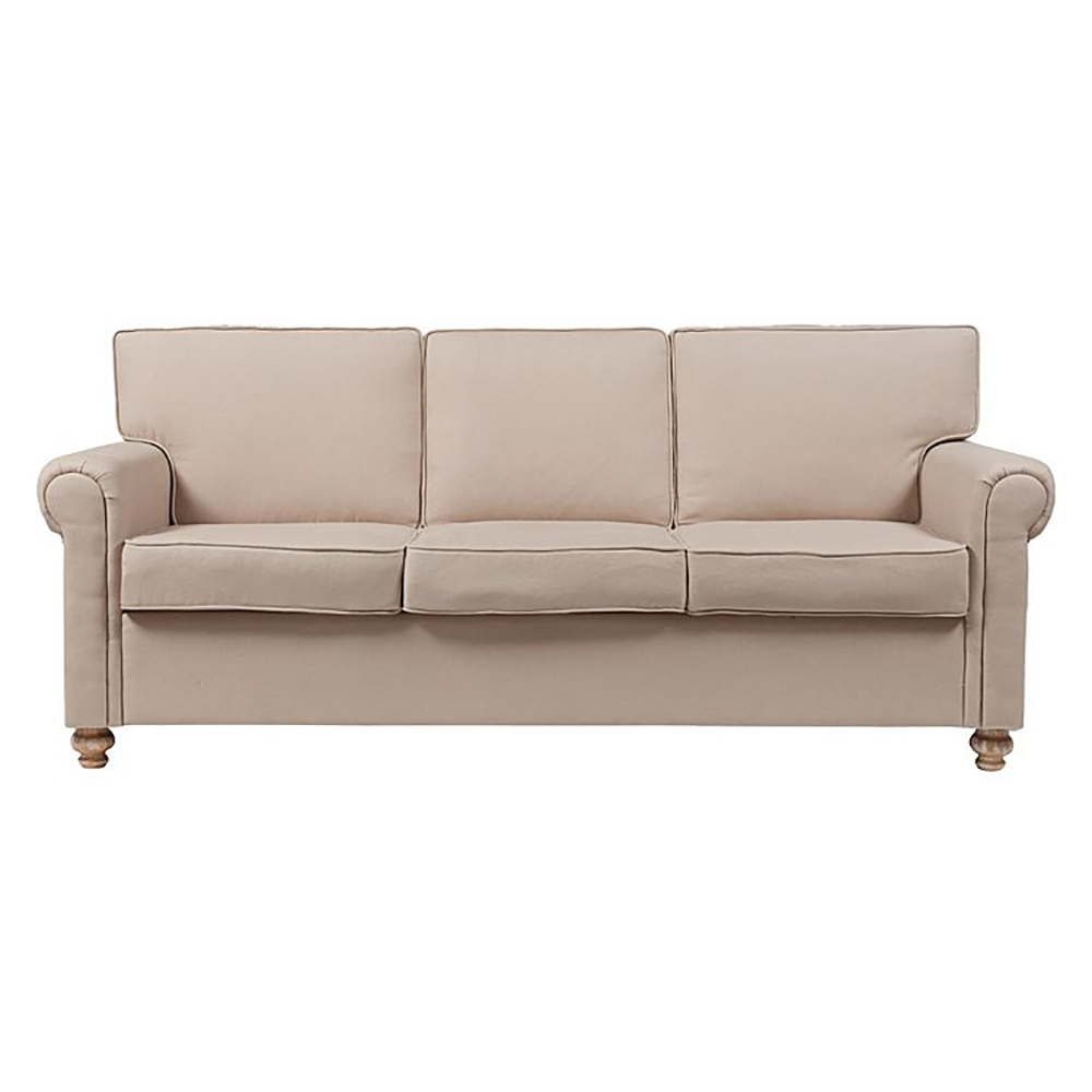 Диван The Pettite Lancaster Upholstered Sofa Кремовый ЛенДиваны<br><br><br>Цвет: Бежевый<br>Материал: Ткань, Поролон, Дерево<br>Вес кг: 62<br>Длина см: 225<br>Ширина см: 95<br>Высота см: 92