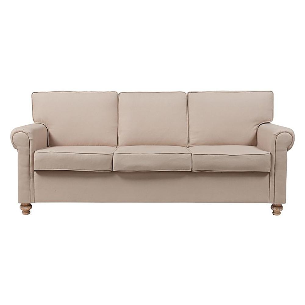 Купить Диван The Pettite Lancaster Upholstered Sofa Кремовый Лен в интернет магазине дизайнерской мебели и аксессуаров для дома и дачи