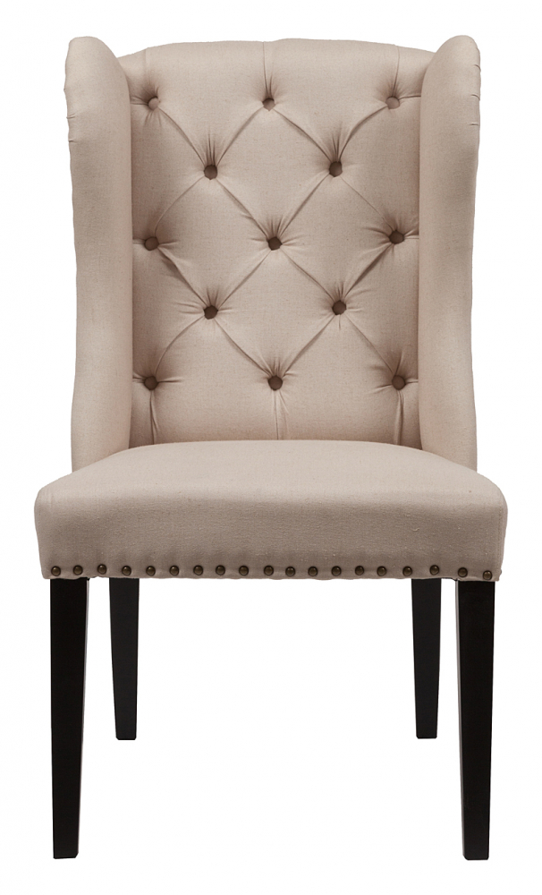 Стул Maison Chair Кремовый ЛенСтулья<br><br><br>Цвет: Бежевый<br>Материал: Ткань, Поролон, Дерево<br>Вес кг: 8<br>Длина см: 65<br>Ширина см: 71<br>Высота см: 105