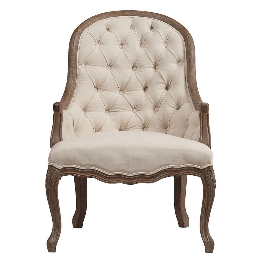 Кресло Armstrong Armchair Белый ЛенКресла<br><br><br>Цвет: Бежевый<br>Материал: Ткань, Поролон, Дерево<br>Вес кг: 22<br>Длина см: 74<br>Ширина см: 74<br>Высота см: 109