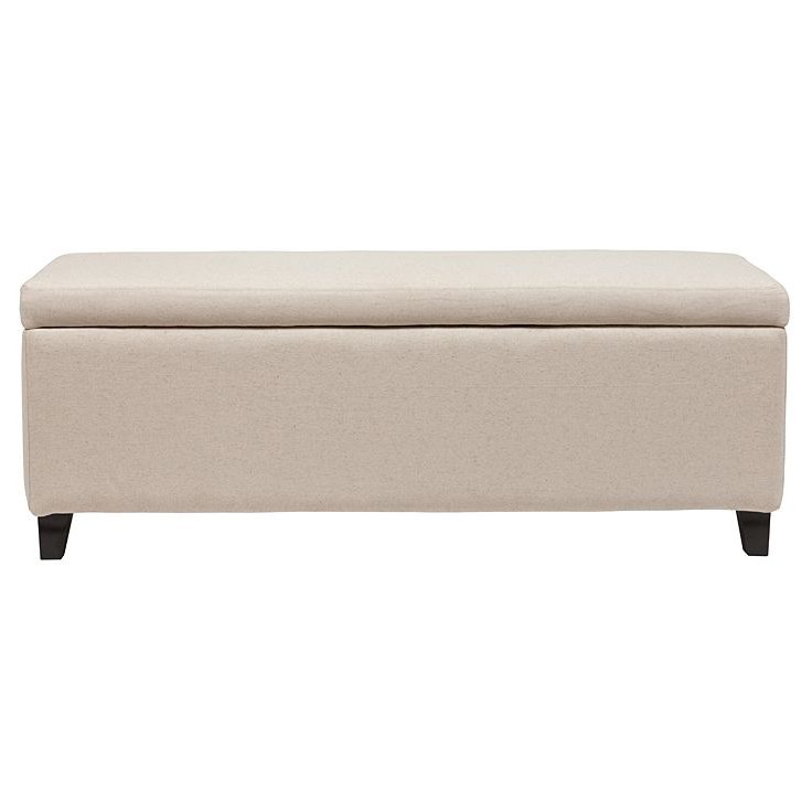 Купить Оттоманка Dean Upholstered Storage Ottoman Белый Лен в интернет магазине дизайнерской мебели и аксессуаров для дома и дачи