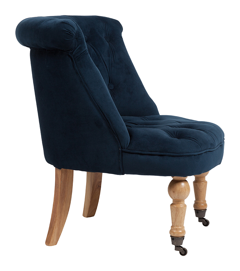 Кресло Amelie French Country Chair Синий Вельвет