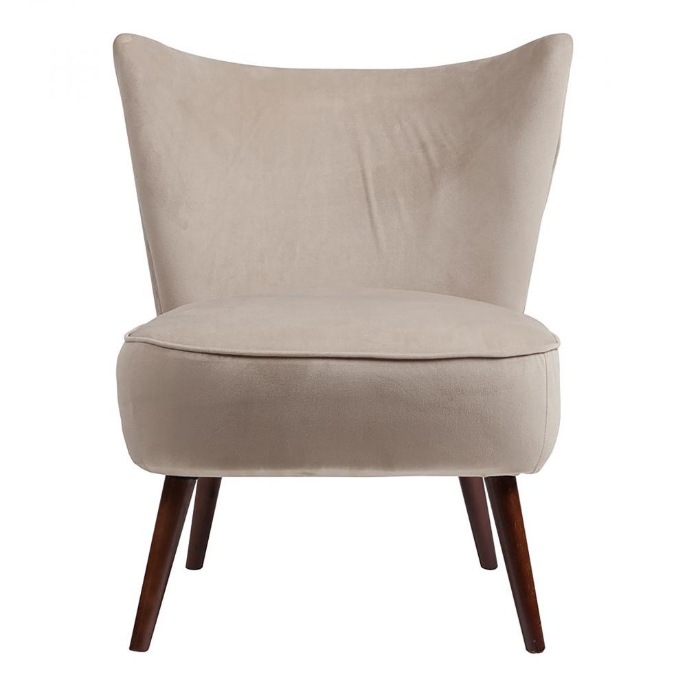 Кресло Vermont Chair Серо-бежевый Велюр, DG-F-ACH491-2