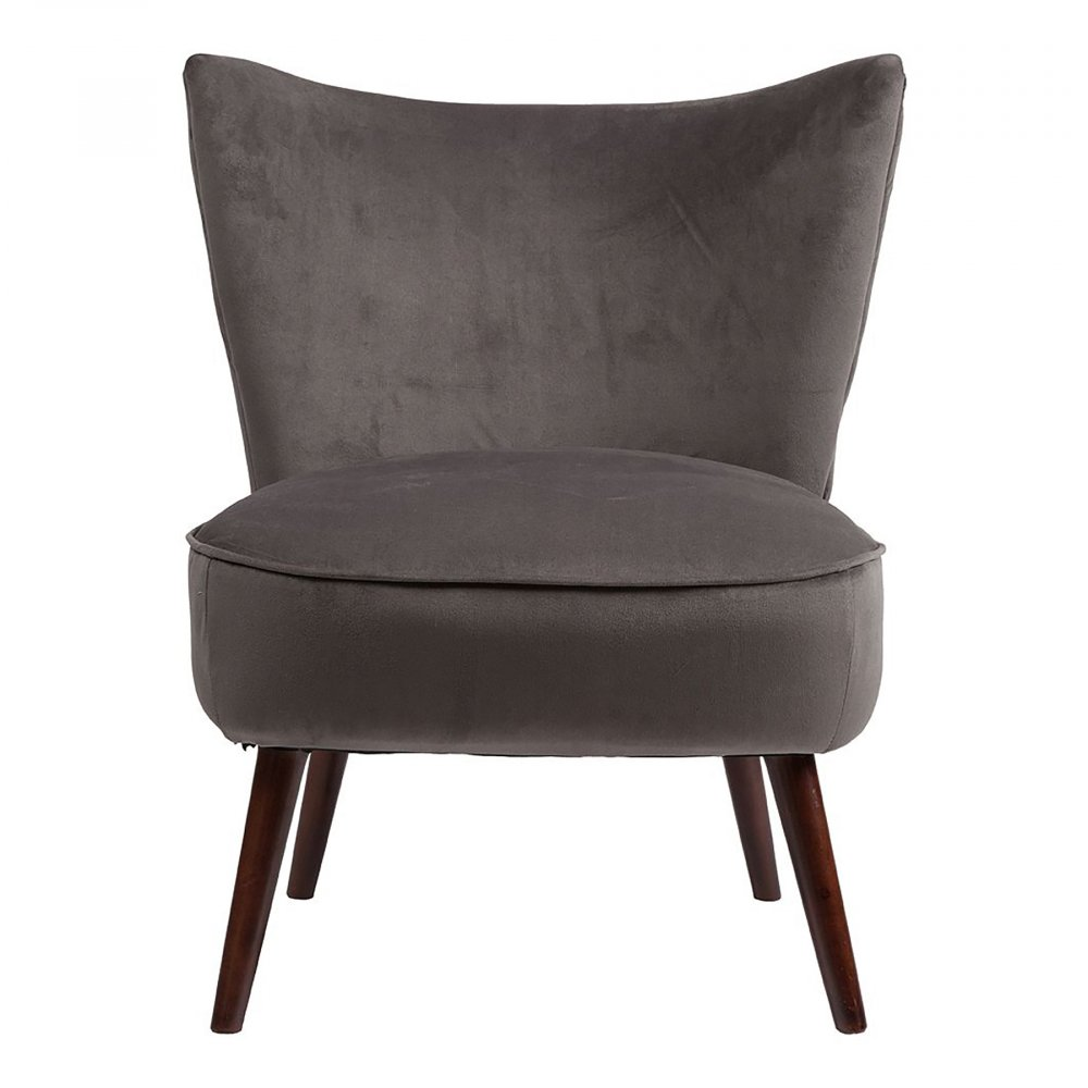 Фото Кресло Vermont Chair Тёмно-Серый Велюр. Купить с доставкой