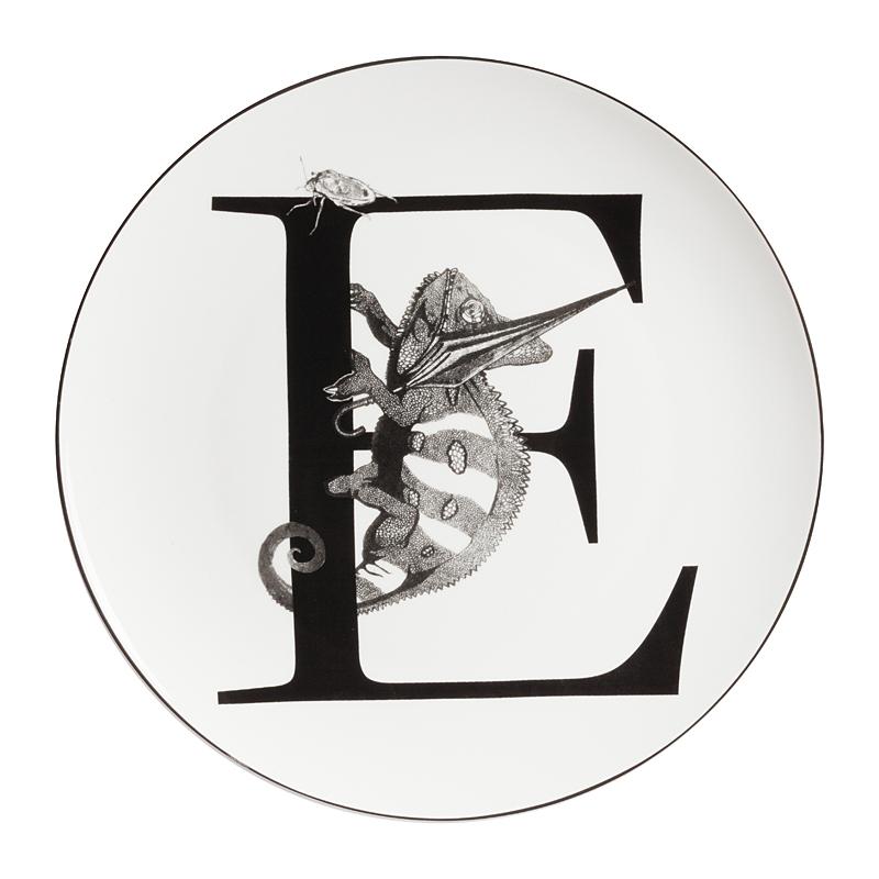 Купить Тарелка Alfabeto E в интернет магазине дизайнерской мебели и аксессуаров для дома и дачи