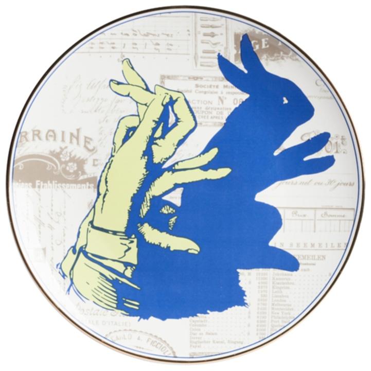 Тарелка TrucoТарелки<br><br><br>Цвет: Синий, Жёлтый<br>Материал: Костяной фарфор<br>Вес кг: 0,2<br>Длина см: 27<br>Ширина см: 27<br>Высота см: 1