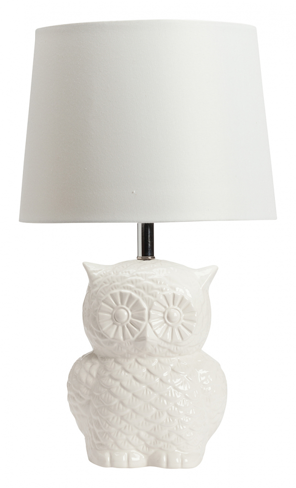 Настольная лампа BabeНастольные лампы<br>Элегантная и, в то же время, очаровательная <br>и неповторимая настольная лампа Babe непременно <br>украсит любую комнату вашего дома, оформленного <br>как в классическом, так и в современном <br>стиле. Простой абажур белого цвета из льняной <br>ткани удачно сочетается с оригинальной <br>ножкой из грубой керамики, выполненной <br>в форме симпатичной совы. Благодаря дизайну <br>лампа будет прекрасно сочетаться или контрастировать <br>с другой мебелью.<br><br>Цвет: Белый<br>Материал: Грубая керамика, Ткань<br>Вес кг: 2,2<br>Длина см: 33<br>Ширина см: 33<br>Высота см: 54