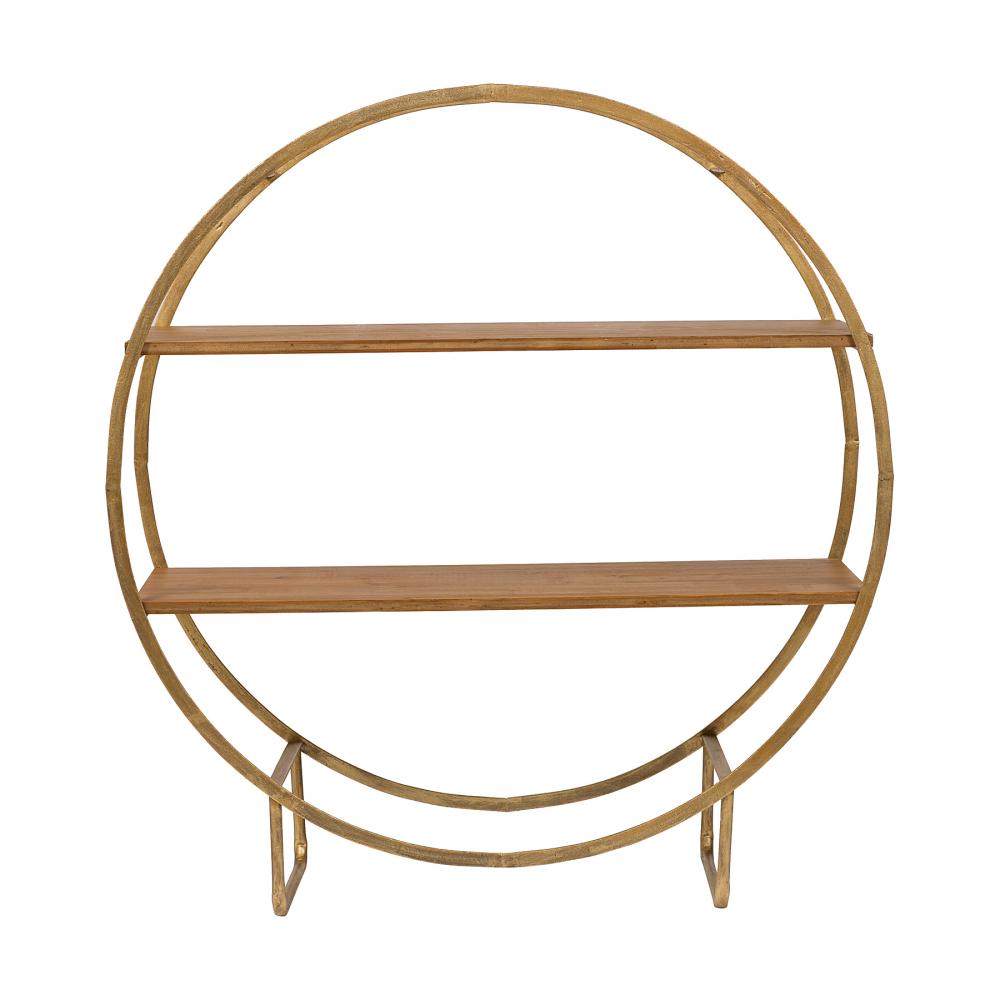 Декоративная полка SofiaАксессуары<br>Декоративная полка Sofia — компактный и полезный <br>предмет мебели, который позволит вам всегда <br>поддерживать идеальный порядок, оптимально <br>подходят для размещения книг, учебников, <br>дисков, декоративных вещей, комнатных растений, <br>посуды и многого другого. Изящная, красивая, <br>функциональная полка будет одинаково уместна <br>в гостиной, детской, кабинете, кухне, спальне. <br>Благодаря настольному размещению полка <br>Sofia не скрадывает пространство, существенно <br>повышая комфортабельность комнаты и украшая <br>её интерьер за счёт своего эффектного дизайна <br>и эстетичного цветового решения. Купите <br>в нашем магазине полку и обновите свой интерьер <br>такой полезной и стильной деталью!<br><br>Цвет: Коричневый<br>Материал: Дерево, Металл<br>Вес кг: 12<br>Длина см: 101<br>Ширина см: 35<br>Высота см: 109