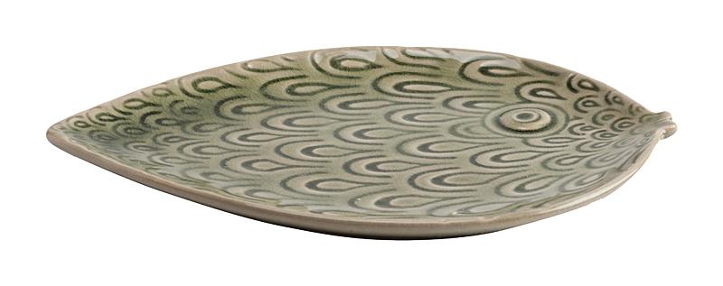 Декоративное блюдо Lobetto Зеленое, DG-DW-600