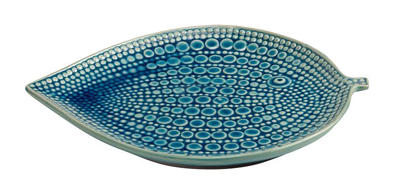 Купить Декоративное блюдо Letto Голубое в интернет магазине дизайнерской мебели и аксессуаров для дома и дачи