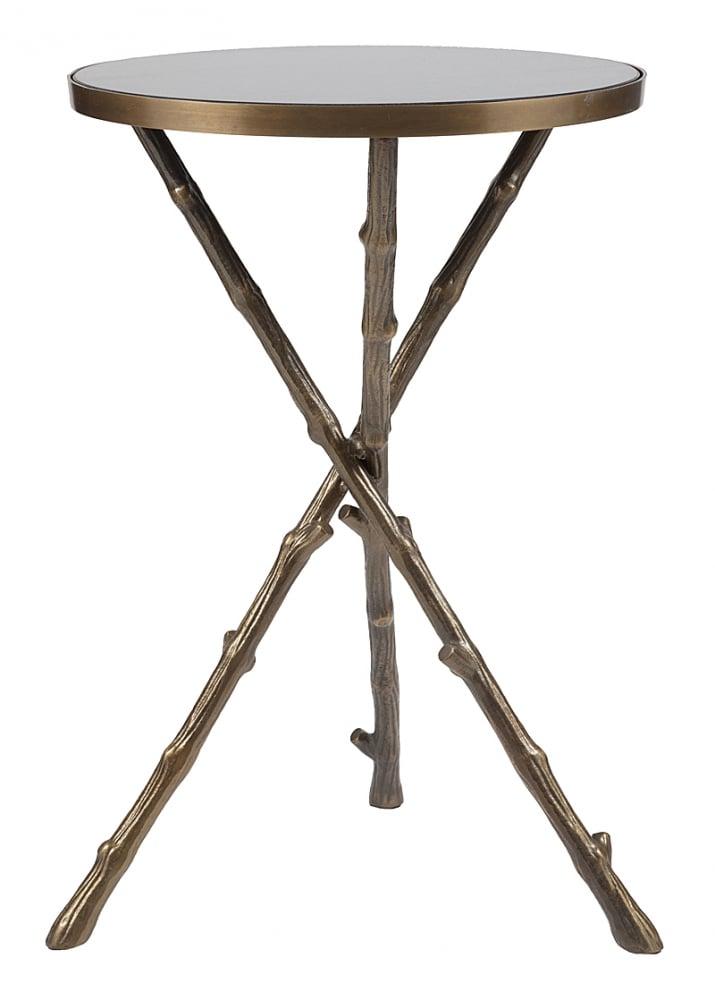 Журнальный столик Raymond DG-HOME Журнальный столик Raymond выполнен в современном  стиле. Круглая гранитная столешница расположена  на трех оригинальных металлических ножках  в виде палок с сучками, перекрещенных между  собой, что придает всей конструкции особую  устойчивость. Столик отлично дополнит современный  интерьер вашей гостиной, а у ваших гостей  вызовет неподдельный восторг и восхищение.