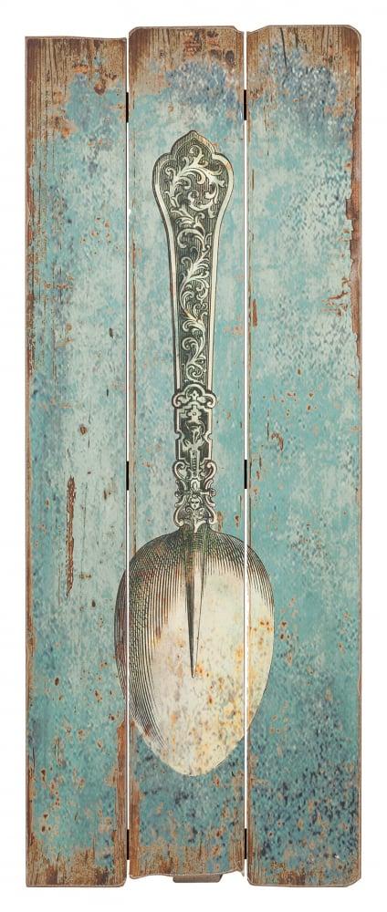 Декоративное панно SpoonДекор стен<br><br><br>Цвет: Голубой<br>Материал: МДФ<br>Вес кг: 1<br>Длина см: 35<br>Ширина см: 1<br>Высота см: 90