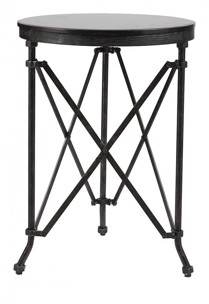 Журнальный столик CarrolКофейные и журнальные столы<br>Стол Carrol изготовлен из высокопрочной стали. <br>Это оригинальная мебель, которая удивляет <br>своей фактурой и комфортабельностью. Круглая <br>поверхность из мрамора идеального диаметра <br>держится на металлических ножках, которые <br>связаны между собой пересекающимися элементами, <br>что придает всей конструкции максимальную <br>устойчивость. Этот стол также можно использовать <br>в качестве подставки под цветочные или <br>декоративные композиции.<br><br>Цвет: Чёрный<br>Материал: Металл, Камень<br>Вес кг: 15<br>Длина см: 51<br>Ширина см: 51<br>Высота см: 71