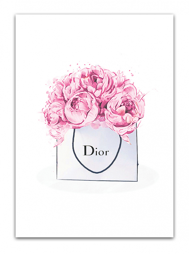 Постер Dior peonies А3, DG-D-PR01 от DG-home