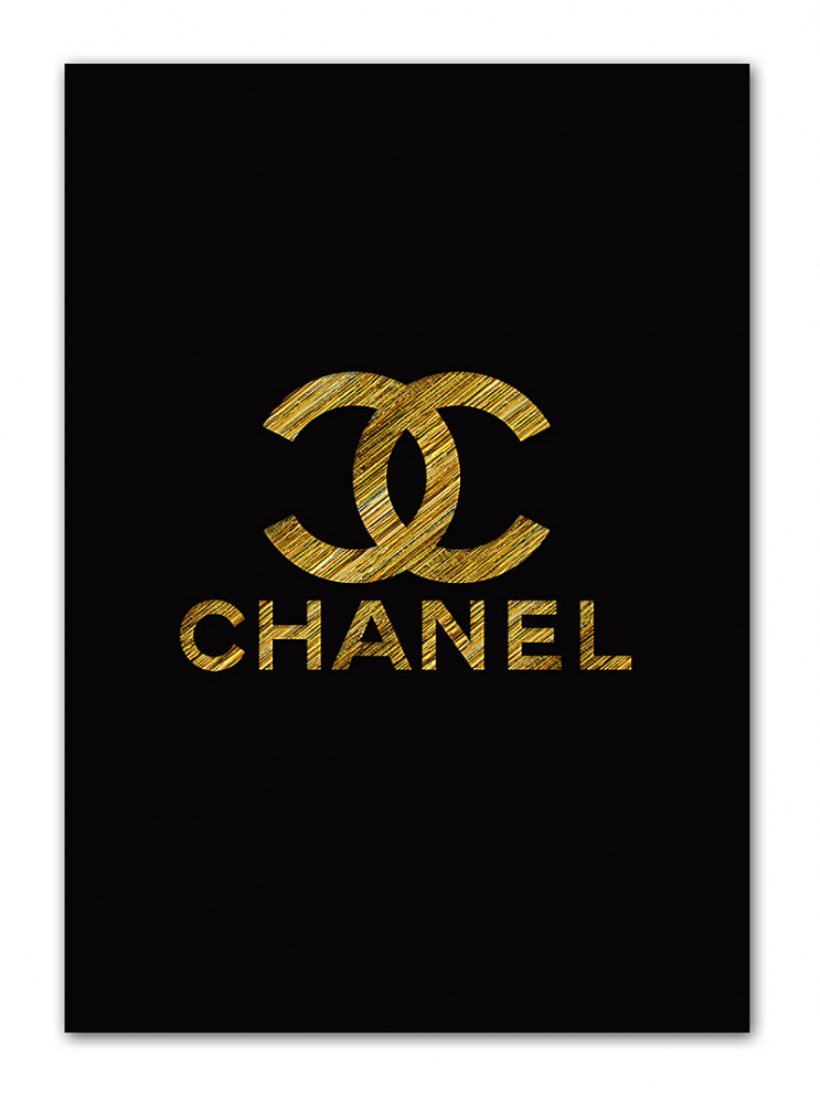 Постер Chanel gold А3