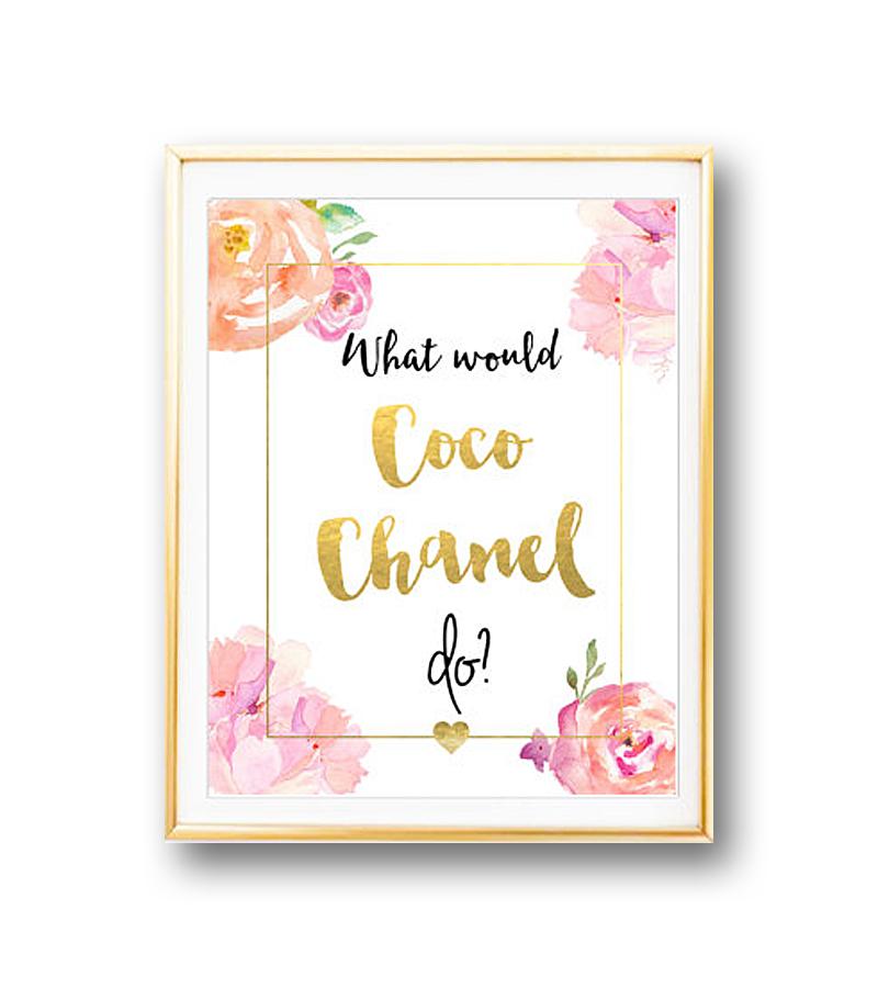 Постер Coco Chanel А3