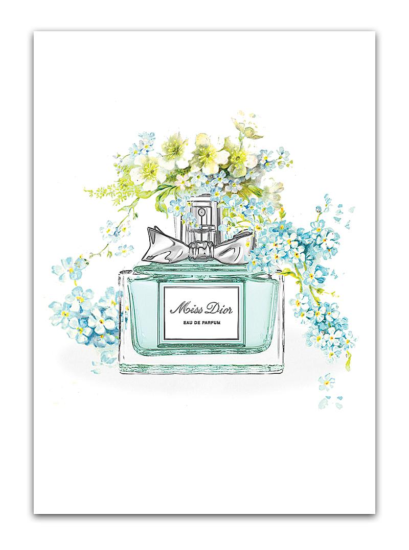 Купить Постер Miss Dior А4 в интернет магазине дизайнерской мебели и аксессуаров для дома и дачи