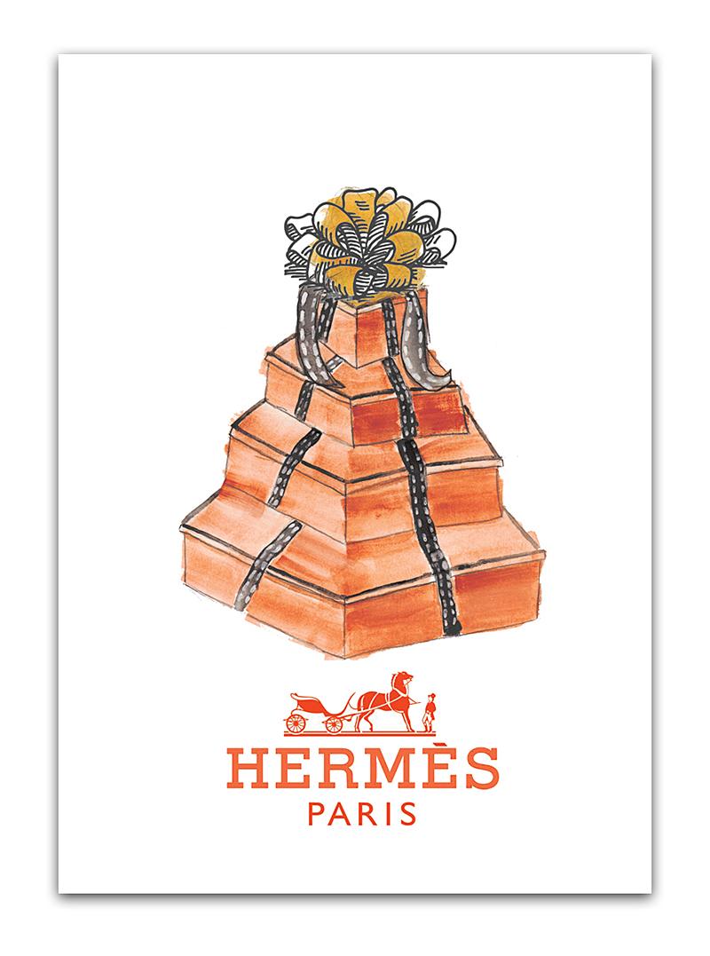 Купить Постер Hermes А4 в интернет магазине дизайнерской мебели и аксессуаров для дома и дачи