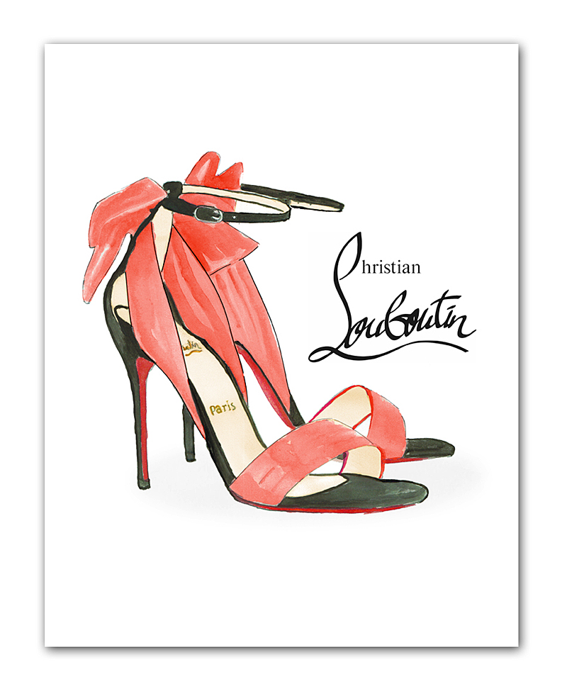 Постер Louboutin А4
