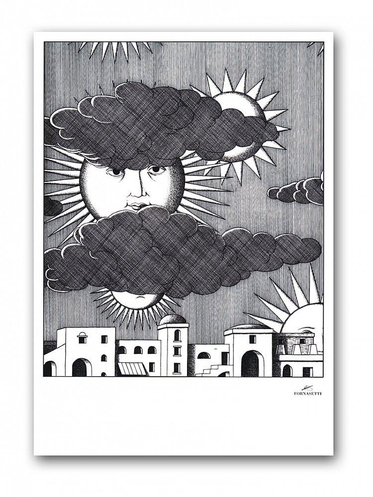 Постер Sunny Fornasetti А4Сюжет этого неординарного постера прост <br>и незамысловат — город, дома, набежавшие <br>на небо тучки и выглядывающее из-за них <br>солнце. Это солнце, дающее свет и жизнь, <br>и само живое — у него такие узнаваемые глаза. <br>Конечно же, это глаза Лины Кавальери — бессменной <br>музы итальянского дизайнера Пьеро Форназетти, <br>который считал её идеалом классической <br>женской красоты. Купите этот постер в нашем <br>интернет-магазине — он станет прекрасным <br>украшением интерьера и замечательным подарком <br>поклонникам творчества маэстро Форназетти. <br>Размер А4 (210x297 мм). Рамки белого, чёрного, <br>серебряного, золотого цветов. Выбирайте!<br><br>Цвет: Серый<br>Материал: Бумага<br>Вес кг: 0,3<br>Длина см: 30<br>Ширина см: 21<br>Высота см: None