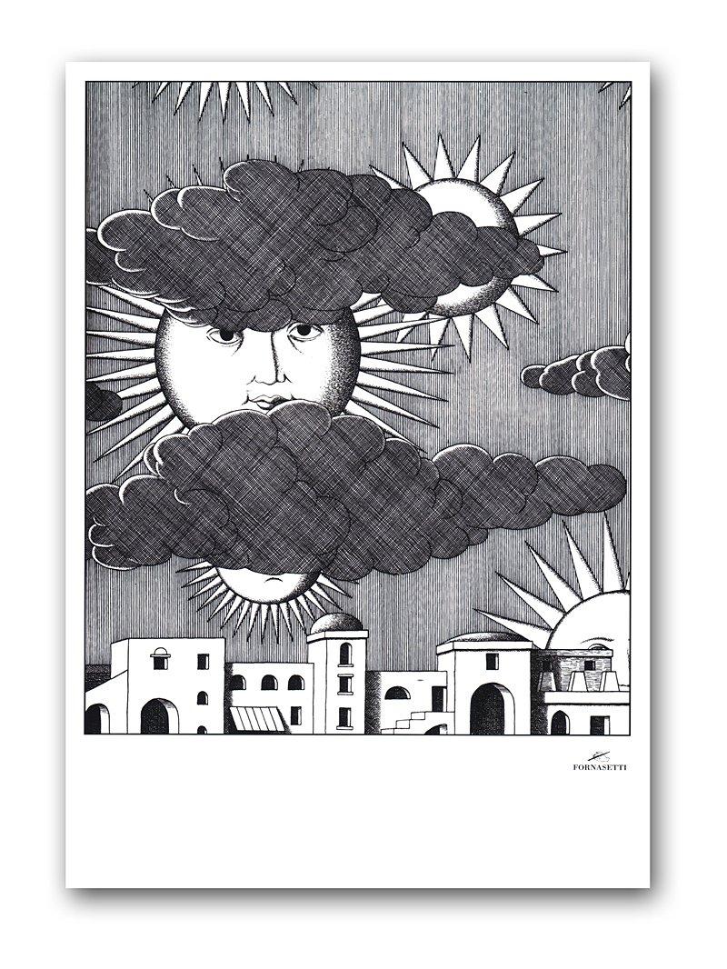 Купить Постер Sunny Fornasetti А4 в интернет магазине дизайнерской мебели и аксессуаров для дома и дачи