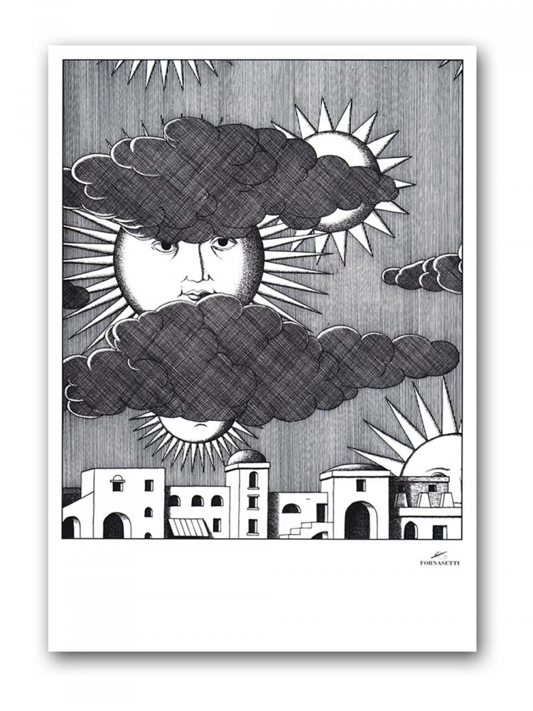 Постер Sunny Fornasetti А3Постеры<br>Сюжет этого неординарного постера прост <br>и незамысловат — город, дома, набежавшие <br>на небо тучки и выглядывающее из-за них <br>солнце. Это солнце, дающее свет и жизнь, <br>и само живое — у него такие узнаваемые глаза. <br>Конечно же, это глаза Лины Кавальери — бессменной <br>музы итальянского дизайнера Пьеро Форназетти, <br>который считал её идеалом классической <br>женской красоты. Купите этот постер в нашем <br>интернет-магазине — он станет прекрасным <br>украшением интерьера и замечательным подарком <br>поклонникам творчества маэстро Форназетти. <br>Размер А3 (297x420 мм). Рамки белого, чёрного, <br>серебряного, золотого цветов. Выбирайте!<br><br>Цвет: Серый<br>Материал: Бумага<br>Вес кг: 0,4<br>Длина см: 40<br>Ширина см: 30