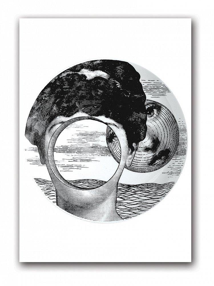 Постер Fornasetti inspired А4Постеры<br>Декорированные постерами интерьеры комнат, <br>городской квартиры или загородного дома <br>не уступают по качеству интерьерам, оформленным <br>дорогими репродукциями картин. Тем более, <br>если эти постеры из коллекции Пьеро Форназетти. <br>Его произведения всегда узнаваемы — это <br>тот редкий тип дизайнеров, которые обладают <br>собственным неповторимым стилем. Его излюбленные <br>темы — солнце, игральные карты, рыбы, бабочки, <br>книги, архитектура и лицо прекрасной Лины <br>Кавальери. Постер станет прекрасным украшением <br>интерьера и замечательным подарком поклонникам <br>творчества маэстро Форназетти. Размер А4 <br>(210x297 мм). Рамки белого, чёрного, серебряного, <br>золотого цветов. Выбирайте!<br><br>Цвет: Серый<br>Материал: Бумага<br>Вес кг: 0,3<br>Длина см: 30<br>Ширина см: 21<br>Высота см: None