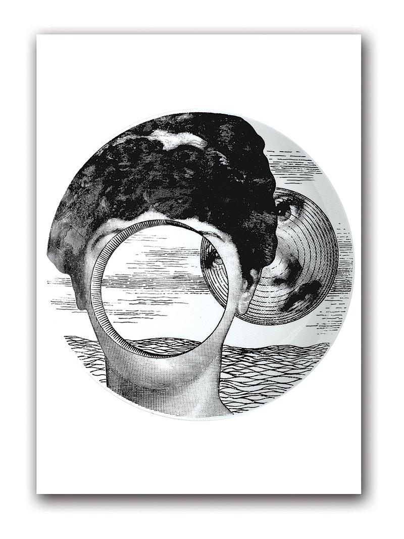 Купить Постер Fornasetti inspired А4 в интернет магазине дизайнерской мебели и аксессуаров для дома и дачи