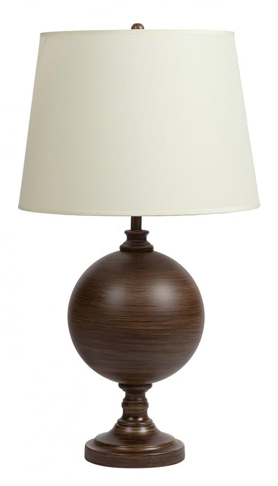Настольная лампа Quenby Table LampНастольные лампы<br>Элегантная настольная лампа Quenby Table Lamp <br>в стиле модерн создаст дополнительный источник <br>света и украсит собой любой интерьер. Основание <br>лампы изготовлено из металла коричневого <br>цвета, её абажур — из прочной ткани белого <br>цвета, которая практически не впитывает <br>в себя пыль. Основа настольной лампы Quenby <br>Table Lamp представлена в виде круга, который <br>по окрасу напоминает фактуру необработанной <br>древесины. Предназначена для использования <br>со светодиодными лампами, лампы не включены <br>в комплект.<br><br>Цвет: Белый, Коричневый<br>Материал: Металл, Ткань<br>Вес кг: 2,5<br>Длина см: 38<br>Ширина см: 38<br>Высота см: 68