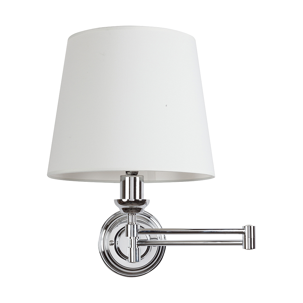 Бра Westbrook Light Swingarm DG-HOME Хорошее освещение, подобранное с умом для  спальни или гостиной — залог уютной атмосферы  интерьера. Все должно быть продумано, особенно  свет, ведь он может задать особенное настроение  как минимум или стать решающим на рабочем  месте. Бра Westbrook Light Swingarm сможет успешно  расположиться на стене вашего дома. Стальное  основание, абажур из белой ткани — простой  классический стиль будет выглядеть идеально  везде. Предназначена для использования  со светодиодными лампочками, которые придется  докупить отдельно. Стальное основание подвижно:  если вам нужен свет чуть дальше, лампа без  проблем «подвинется».