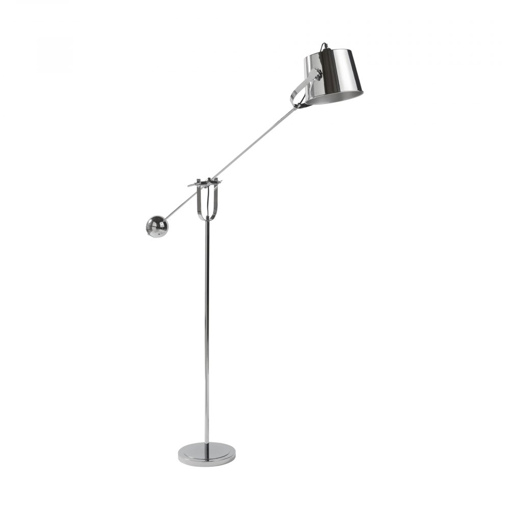 Напольный светильник FairfaxТоршеры и напольные светильники<br><br><br>Цвет: Серебро<br>Материал: Металл<br>Вес кг: 3<br>Длина см: 30<br>Ширина см: 95<br>Высота см: 170