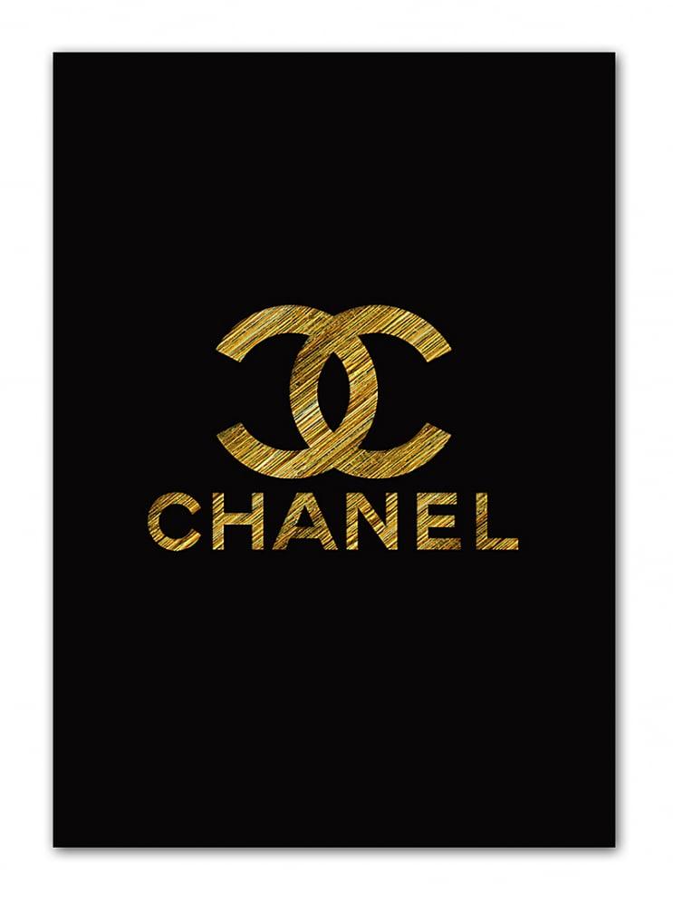 Постер Chanel gold А4