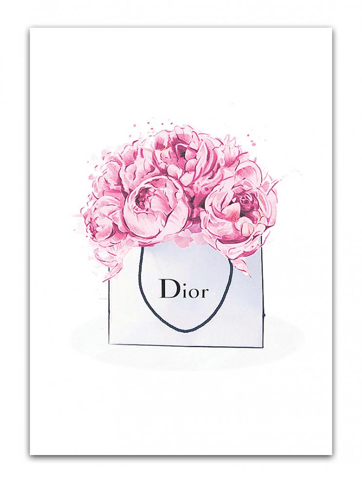 Постер Dior peonies А4, DG-D-PR22
