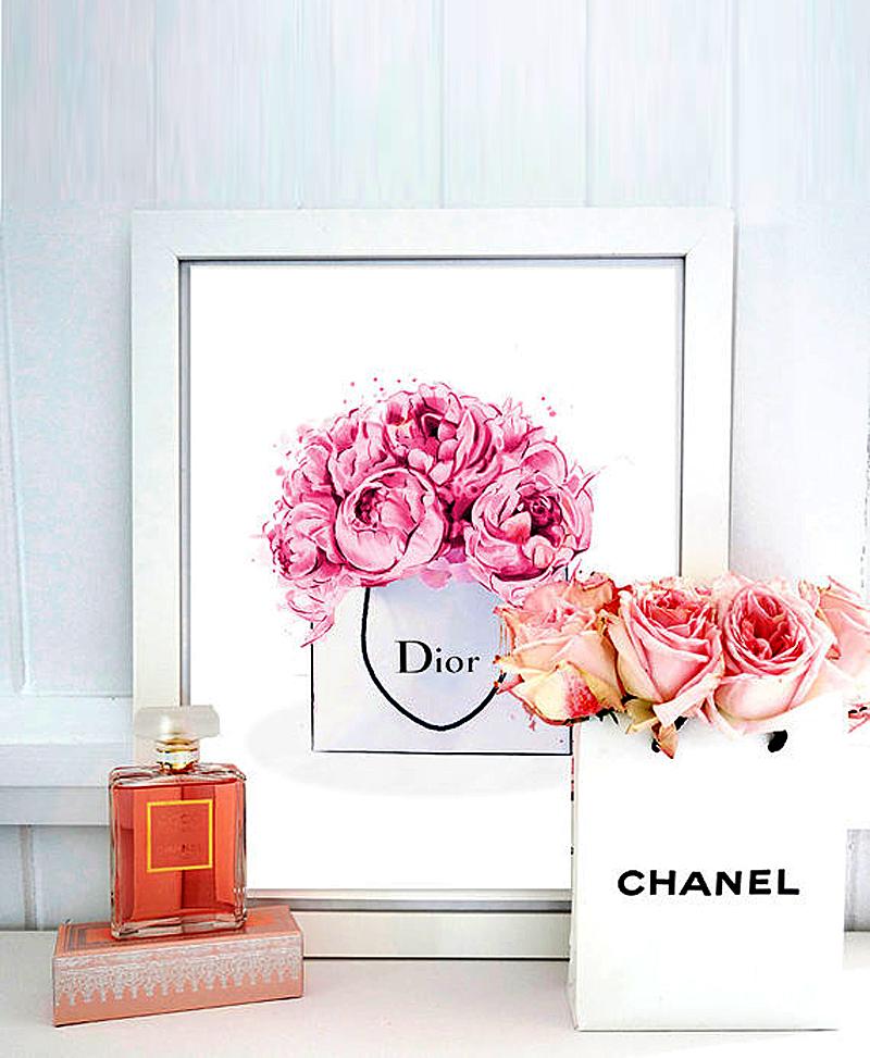 Постер Dior peonies А4