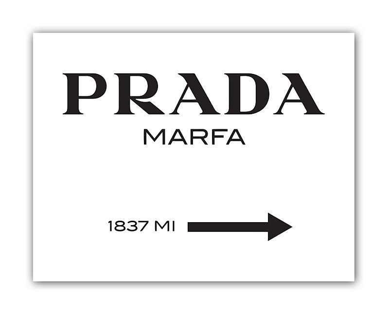 Постер Prada Marfa А4Постеры<br>Постер представляет собой указатель расстояния <br>до магазинчика Prada на юго-западе городка <br>Марфа в штате Техас. На самом деле, псевдо-магазин <br>Prada Marfa — это не более, чем скульптурная <br>инсталляция Майкла Элмгрина и Ингара Дрэгсета, <br>которая была открыта в октябре 2005 года. <br>Скульптура выполнена настолько реалистично, <br>что многие люди, проезжающие мимо, останавливались <br>и ждали открытия часами, думая что это настоящий <br>магазин. Несколько раз витрины магазина <br>даже разбивали и грабили, но вандалам доставались <br>только непригодные для использования вещи. <br>Постер Prada Marfa станет прекрасным подарком <br>для тех, кто ностальгирует по сериалу «Сплетница» <br>и красивым интерьерам комнат главных героинь. <br>Размер А4 (210x297 мм). Рамки белого, чёрного, <br>серебряного, золотого цветов. Выбирайте!<br><br>Цвет: Чёрный, Белый<br>Материал: Бумага<br>Вес кг: 0,3<br>Длина см: 30<br>Ширина см: 21
