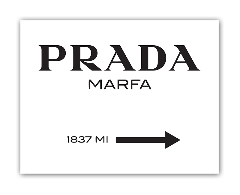 Постер Prada Marfa А3Постеры<br>Постер представляет собой указатель расстояния <br>до магазинчика Prada на юго-западе городка <br>Марфа в штате Техас. На самом деле, псевдо-магазин <br>Prada Marfa — это не более, чем скульптурная <br>инсталляция Майкла Элмгрина и Ингара Дрэгсета, <br>которая была открыта в октябре 2005 года. <br>Скульптура выполнена настолько реалистично, <br>что многие люди, проезжающие мимо, останавливались <br>и ждали открытия часами, думая что это настоящий <br>магазин. Несколько раз витрины магазина <br>даже разбивали и грабили, но вандалам доставались <br>только непригодные для использования вещи. <br>Постер Prada Marfa станет прекрасным подарком <br>для тех, кто ностальгирует по сериалу «Сплетница» <br>и красивым интерьерам комнат главных героинь. <br>Размер А3 (297x420 мм). Рамки белого, чёрного, <br>серебряного, золотого цветов. Выбирайте!<br><br>Цвет: Чёрный, Белый<br>Материал: Бумага<br>Вес кг: 0,4<br>Длина см: 40<br>Ширина см: 30<br>Высота см: None