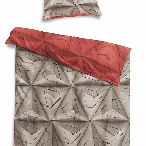 Купить Постельное белье Оригами красный (150*200) в интернет магазине дизайнерской мебели и аксессуаров для дома и дачи
