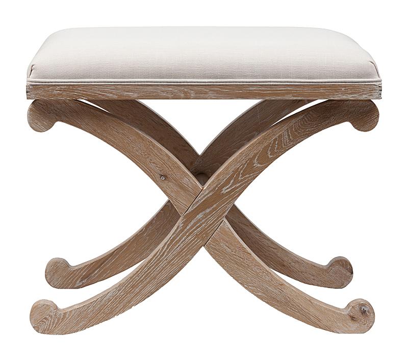 Табурет X-Leg Stool Кремовый DG-HOME Табурет X-Leg Stool — яркий и функциональный  предмет интерьера. Он демонстрирует нестандартный,  свежий взгляд на такие повседневные вещи,  как табурет. Необычный, запоминающийся  дизайн, качественное исполнение подкупают  с первого взгляда. Табурет изготовлен из  массива дерева (дуба), сидение обито первоклассным  практичным комбинированным материалом  (состоящим из 80% полиэстера и 20% натурального  льна), устойчивым к различного рода деформациям.  На табурет удобно присесть или вытянуть  ноги, устроившись в кресле. Красивых табуретов  много, выбрать сложно, но, выбрав табурет  X-Leg Stool, вы просто удивитесь, насколько простые  вещи могут создавать уют и гармонию.