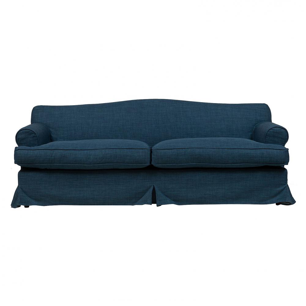 Диван Fernando Большой Синий Лен DG-HOME Современному интерьеру необходима соответствующая  мебель, готовая предстать не только как  предмет красоты, но для комфортного сидения,  не искривляя осанки и помогая убрать тяжесть  со спины. С диваном Fernando в вашей комнате  воцарятся дух и удовольствия, и деловых  занятий. Достаточно тяжел, но, в то же время,  мягок, способствуя расслаблению; после  каждого вставания он легко возвращает свою  форму, что позволяет его долго эксплуатировать.  Две маленькие подушечки помогут вашей спине  занять удобное положение. Неприхотлив в  обращении, для уборки не требует повышенного  внимания, легко чистится, пружинист, впишется  под любую планировку. Дизайн дивана Fernando  — от знаменитого итальянского дизайнера  Пьера Лиссони (Piero Lissoni).